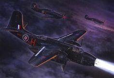 Pinturas Aviación II Guerra Mundial — 1942 09 Douglas A-20 Havoc MkII AH-497 536 Sqn,...