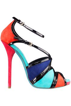 Dior High Multicolor Cruise Ankle Strap Sandals 2012 #Dior #Shoes #Heels