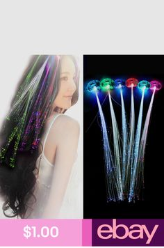 Home & Garden Strict New Fashion Toys Girls Colorful Led Glow Fiber Braid Headdress Lights Birthday Party Christmas Decorations Numerous In Variety Artificial Decorations