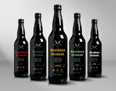 A Range Of Attractive Bottled Beer Inspired By An Iconic German Typeface for our #beer loving #packaging peeps PD