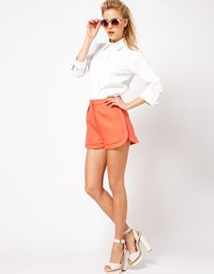 Enlarge ASOS Smart Shorts With Curved Hem