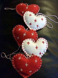 Felt decorations, Christmas or Valentine's
