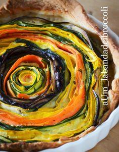 Torta salata di verdure arrotolate