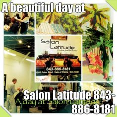 A beautiful day at  Salon Latitude 843-886-8181 (courtesy of @Pinstamatic http://pinstamatic.com)