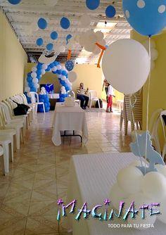 Baby shower decoracion globos decoracion salon baby - Decoration de baby shower ...