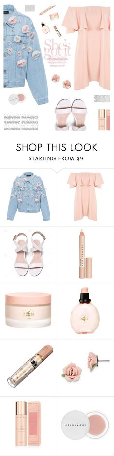 """""""She's got it"""" by buflie ❤ liked on Polyvore featuring Anouki, Topshop, Chantecaille, Yves Saint Laurent, 1928, Bulgari and Herbivore"""