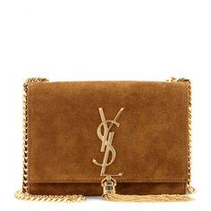 Yves Saint Laurent Monogram Small Suede Tassel Crossbody Bag ...