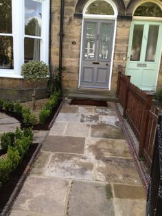 Gardening – Gardening Ideas, Tips & Techniques Front Garden Path, Garden Gates And Fencing, Front Path, Back Garden Design, Front Gardens, Side Garden, Victorian Patio Ideas, Victorian Front Garden, Victorian Terrace House