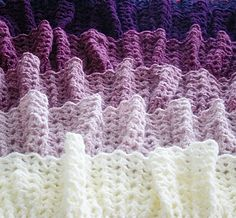Felted Button - Colorful Crochet Patterns: ::Ombre Ruffle Blanket Ta-Dah::