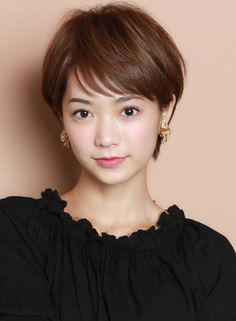 Pin on ショートヘア Pixie Hairstyles, Short Hairstyles For Women, Pretty Hairstyles, Girl Short Hair, Short Hair Cuts, Short Hair Styles, Hair For Round Face Shape, Hear Style, Androgynous Haircut