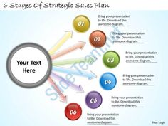1113 business ppt diagram 6 stages of strategic sales plan powerpoint template Slide01