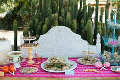 Modern mexican themed wedding | Event design by Pow Wow Events | Photo by John Newsome Photography | Read more -  http://www.100layercake.com/blog/?p=66719
