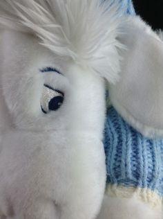 "Disney Store Snowflake Eeyore Plush Blue Sweater Hat White Fur 13"" 46cm Winnie #Disney"