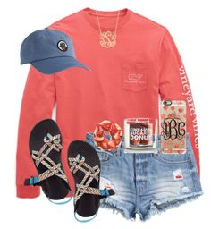 """Feels like a fall day!"" by maliaackermann ❤ liked on Polyvore featuring Vineyard Vines, H&M, Chaco, Casetify and CO"