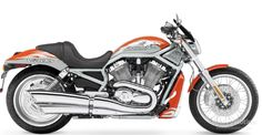 2006 HARLEY DAVIDSON VRSCSE ScreaminEagle V-Rod  Released in 2006, Harley Davidson lets you purchase the VRSCE motorcycle in multiple colors such as candy blue and dark candy blue, two-tone candy cherry and electric orange and black.