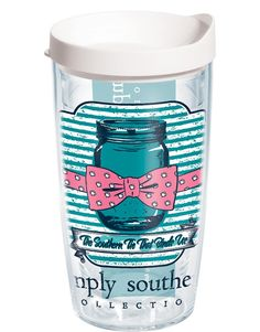 This charming mason jar design is 'The Southern Tie That Binds Us,' and serves up great hot or cold drinks no matter where you call home.