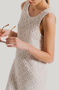 Ivelise Feito à Mão: Vestido Tubinho Com Ponto Aranha