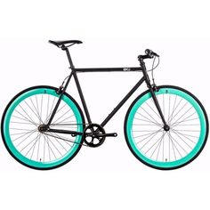 6KU Beach Bum | Turquoise/Black Steel Frame Complete Fixed Gear Bike