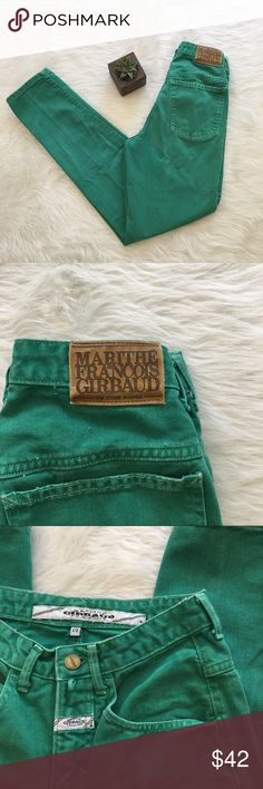 Vintage Girbaud Green High Waist Mom Jeans Vintage Martithe Francois Girbaud green high waisted mom jeans. Size 4. In great condition. Approximate measurements are 24' waist, 17' hips, & 30' inseam. To ensure fit please measure around belly button or middle of stomach. Marithe Francois Girbuad  Jeans