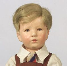 "14.5"" cloth Doll IX with mohair wig, the ""Little German Child"" (stamped '2231' on the sole of foot alongside indecipherable writing), Germany, 1930-39, by Käthe Kruse."