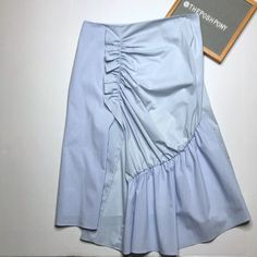 Nordstrom Skirts | Trouve Mixed Stripe Poplin Aline Skirt | Poshmark Pattern Mixing, Poplin, A Line Skirts, Blossoms, Casual Wear, Work Wear, Nordstrom, Blue And White, Stripes