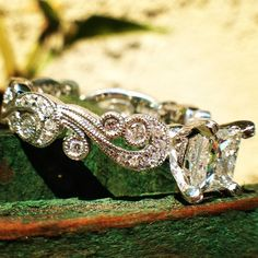 Kirk Kara engagement ring from the Angelique collection. Princess engagement ring