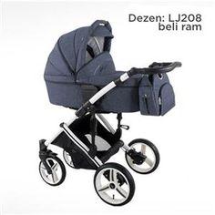 Bebetto Pascal kolica za bebe, set 3u1, dezen 208, beli ram