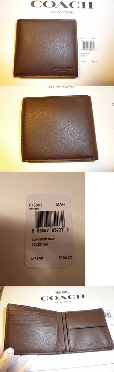 5e64e1adeab8 Wallets 2996  Nwt Coach Men S Wallet F75003 Coin Sport Bifold Calf Leather  Wallet -