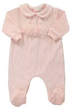 http://www.alettashop.com/tuta-14268.html #babygrowth #aletta# kids #pink #ciniglia #lace
