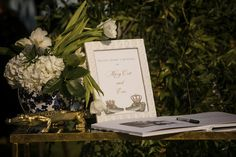 """We chose John Gandy and his team because they are the most talented and professional team in the business."" – Take a look at this gorgeous outdoor wedding! #sponsored Event Design, Florida, Magazine, Shit Happens, Table Decorations, Weddings, Business, How To Make, Outdoor"