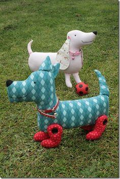 Jodie Carleton's adorable handmade dogs.