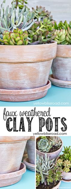 The other day I shared my bright and cheery summer porch, and promised a tutorial on how I made the faux weathered pots. It was quite possibly one of the easiest projects I've done. What you need: Clay pots, any size 2 paper plates Small-medium sized paint brush Pure white primer or flat paint Furniture …