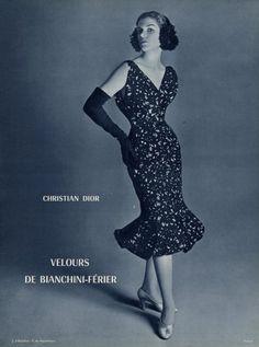 Christian Dior 1956 Evening Dress, Fashion Photography
