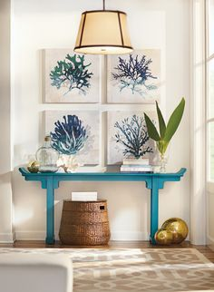 Blue and fabulous. #shoredecor