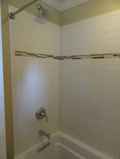 Brown and white tile bathrooms | guest bathroom we re-tiled the ...