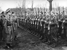 Croatia, 1943, Himmler inspecting a parade of soldiers from the 13th Division of the SS. A Muslim division, interesting contradiction of Nazi racial ideology and shows how desperate they were for manpower.