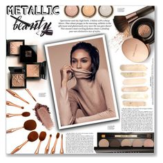 """""""Shine On: Metallic Makeup"""" by loloksage ❤ liked on Polyvore featuring beauty, Nude by Nature, By Terry, Bobbi Brown Cosmetics and Haute Hippie"""