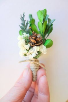 Winter Wedding Boutonniere-White by MoonflowerNatureArt on Etsy