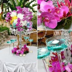 What's hot now is using bright and bold fashion inspired colors in your floral decor. Splashes of color are a great way to make a stat. Neon Flowers, Bold Fashion, Bright Yellow, Electric Blue, Color Splash, Grey And White, Color Combinations, Style Inspiration, Table Decorations