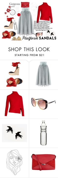 """""""Stand Up!"""" by jelena-topic5 ❤ liked on Polyvore featuring Dsquared2, Marques'Almeida, Chloé, Mother, Dot & Bo, PBteen, CÉLINE and platforms"""