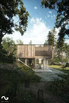 Best of Week 39/2015 - DHouse Plus Pedestrian Bridge Miro by snofer - Ronen Bekerman - 3D Architectural Visualization & Rendering Blog