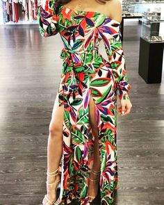 Shalena High Slit Off The Shoulder Floral Print Maxi Dress https://shalena.ca #women #fashion #girly #onlineshopping #dresses #girl #coat #love #life #girls #canadian #dress #ootd #me  #latestfashion #beautiful #happy #pretty #colorful #sweet #shopping #style #instafashion #instagood #outfit #design #model #TagsForLikes #photooftheday #stylish