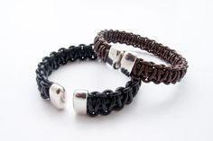 make bracelet from leather cord - Google Search