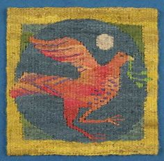 Six Birds. A Tapestry Weaving