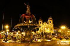 Magical Cusco Fountain #MainSquare #Fountain #Magical #CuscoAtNight #BestOfPeru #Cusco #Peru #MachuTravelPeru #CustomMadeTours #Travel #SharingPleasantMoments