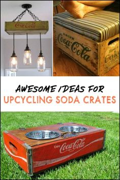 Super old crate diy coca cola 56 Ideas Cageots Vintage, Vintage Crates, Wooden Crates, Vintage Home Decor, Old Coke Crates, Coke Crate Ideas, Wine Crates, Furniture Makeover, Diy Furniture
