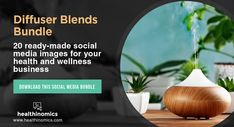 ❤️   DOWNLOAD SOCIAL MEDIA CONTENT ❤️  💐 Diffuser Blends Bundle 💐  Essential oil diffuser blends are beyond heaven-scent. Diffusing essential oils come with great health benefits, too.  For every level of fragrance fanatics, they can be a truly wonderful experience. Hence, it's everything every health and wellness fan wants.  Now you can indulge your social media followers into the wonderful world of wellness and scents.   #DiffuserBlends #diffuserblendsforfall