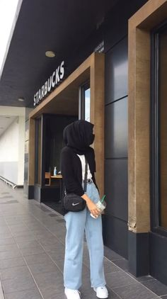 Hijab Casual, Ootd Hijab, Modest Outfits, Casual Outfits, Look Fashion, Fashion Outfits, Street Hijab Fashion, Muslim Women Fashion, Hijab Fashion Inspiration
