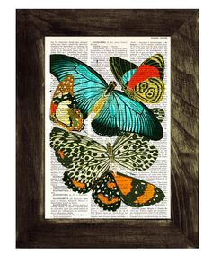 Butterflies collage Dictionary Book Print  Altered art by PRRINT, $8.00