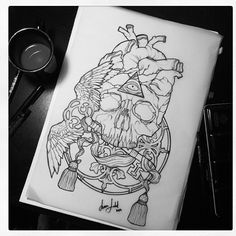 This would be an amazing tattoo. Art by Sara Fabel